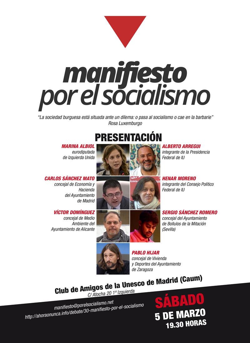 Presentación en Madrid del Manifiesto por el Socialismo
