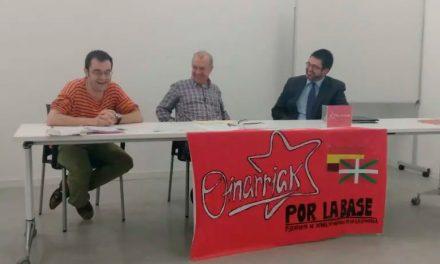 Acto de OINARRIAK-POR LA BASE plataforma de debate de la izquierda