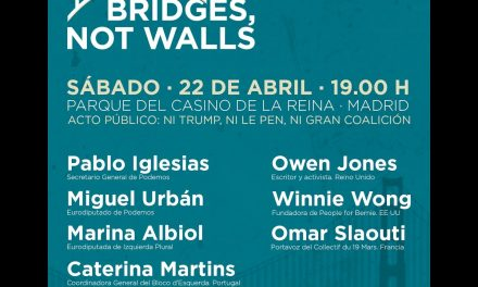 Ni Trump, ni Le Pen, ni Gran Coalición. Bridges, not walls