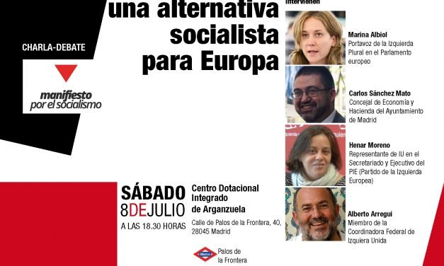 Acto público con Marina Albiol, Carlos Sánchez Mato, Henar Moreno y Alberto Arregui