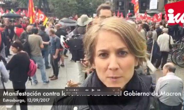 """Los trabajadores y trabajadoras francesas en lucha contra la """"reforma laboral"""" de Macron"""