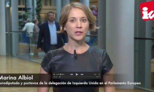 """Albiol cree que las propuestas de Juncker en el Estado de la Unión """"ahondan el carácter antidemocrático de la UE"""