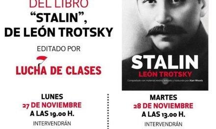 """Presentación del libro """"Stalin"""" de  León Trotsky"""