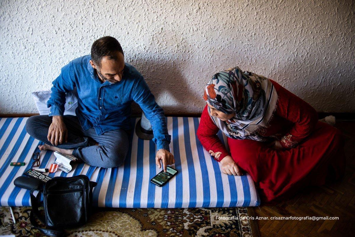 Husein y Amira, refugiados y desahuciados